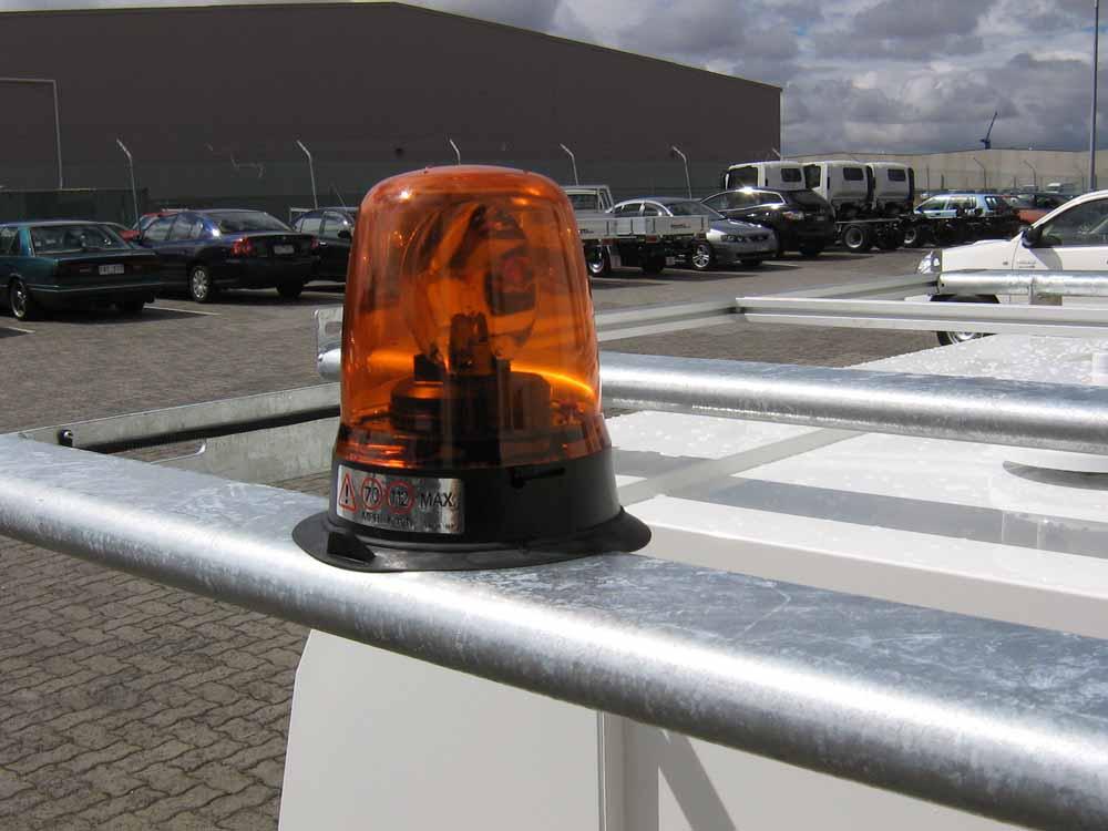 rotating amber beacon