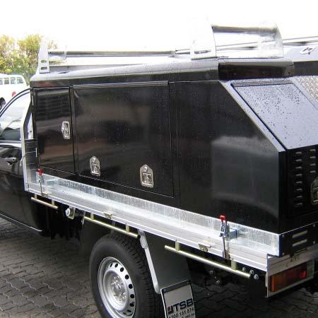 black plumber service body canopy