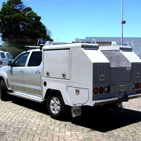 plumbers ute fixed service body