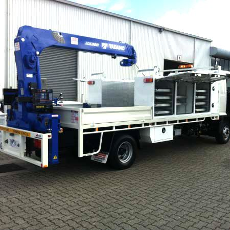 crane body for council worker truck
