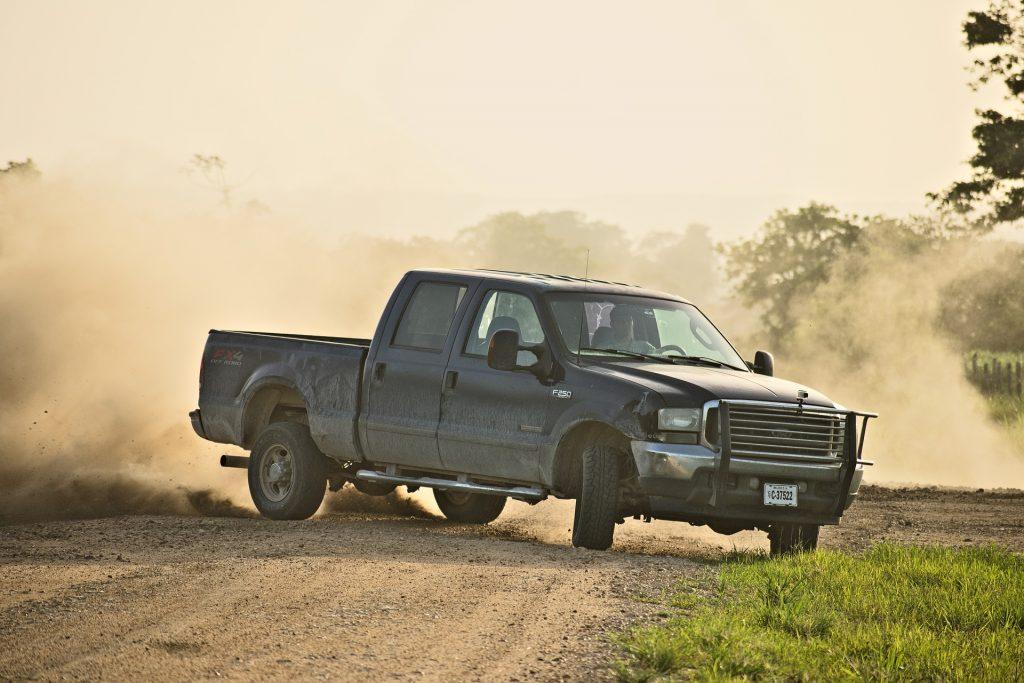 drifting ute truck