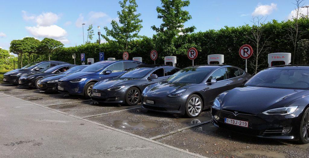 charging tesla cars