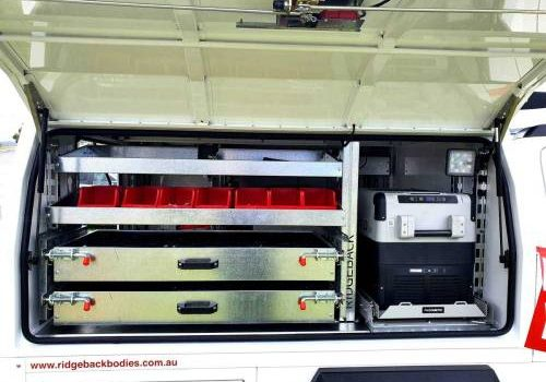 accessories for ridgeback service vehicles